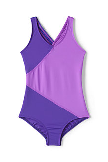 Girls' Smart Swim Colourblock Swimsuit