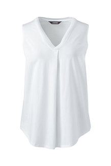 Women's Sleeveless Jersey V-neck Top