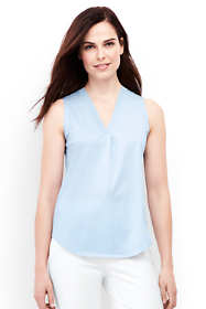 Women's Rib Trim V-neck Tank