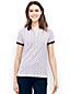 Women's Short Sleeve Contrast Collar Pique Polo