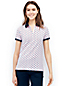 Women's Short Sleeve Contrast Collar Pique Polo