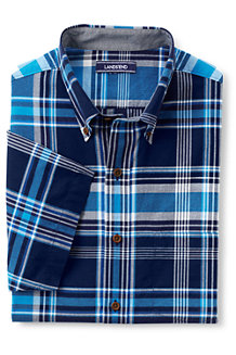 Men's Regular Short Sleeve Madras Shirt