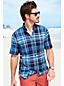 La Chemise Madras à Manches Courtes, Homme Stature Standard