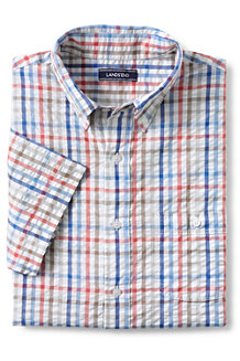 Men's Short Sleeve Seersucker Shirt