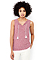 Women's Slub Jersey Striped Tie Front Top