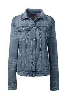 Indigo Denim-Jeansjacke für Damen