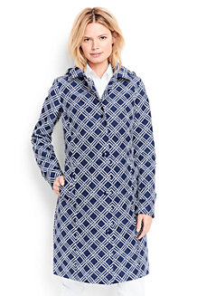 Women's  Patterned Coastal Rain Coat