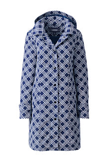 Women's  Patterned Coastal Rain Coat