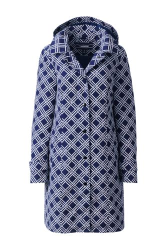 Women's Regular Patterned Coastal Rain Coat