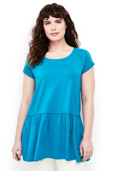 Women's Plus Size Peplum Tunic Top