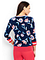 Le Pull Supima Manches 3/4 Fleuri, Femme Stature Standard
