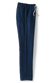 Men's  Drawstring Linen Trousers