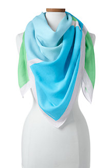 Le Grand Foulard Carré Blocs de Couleurs, Femme