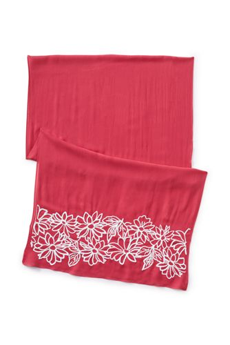 Women's Embroidered Floral Scarf