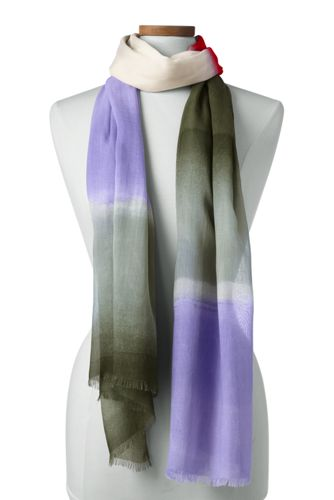 Women's Brush Stroke Stripe Scarf