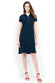 Women's Short Sleeve Piqué Polo Dress