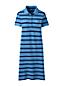 La Robe Polo Piqué Stretch Rayée, Femme Stature Standard
