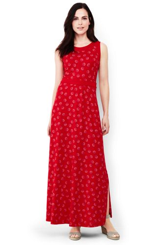 Women's Stretch Jersey Print Maxi Dress