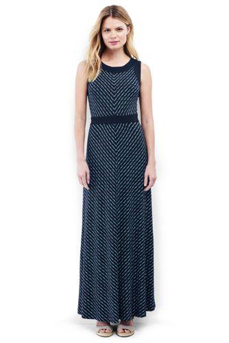 Women's Stretch Jersey Dot Maxi Dress