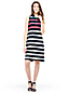Women's Regular Sleeveless Stripe Piqué Polo Dress