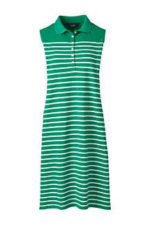 Ärmelloses Piqué-Polokleid mit Streifen für Damen