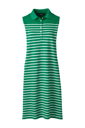 La Robe Polo Stretch Rayée Sans Manches, Femme Stature Standard
