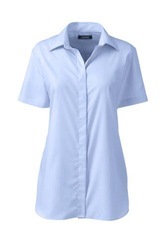44bbde7147ac2 Women s Supima Cotton Non-iron Short Sleeve Camp Shirt