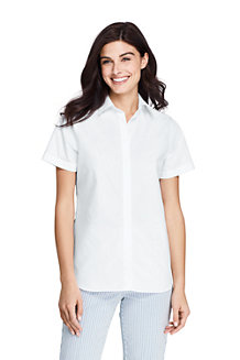 Women's Supima Cotton Non-iron Short Sleeve Camp Shirt