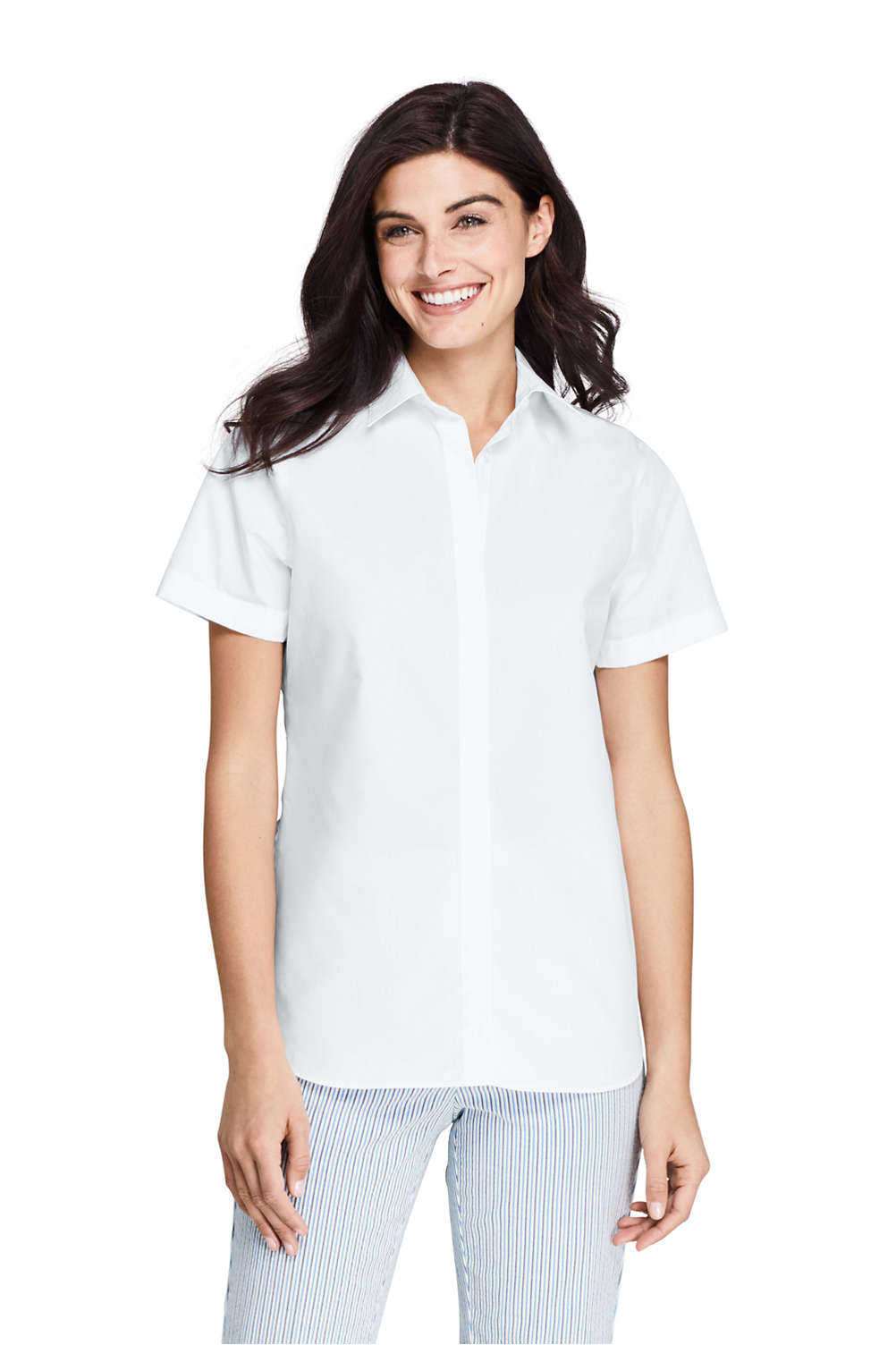 1f2fa829e891a Women s Short Sleeve No Iron Shirt from Lands  End