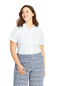 Women's Plus Size Short Sleeve No Iron Shirt