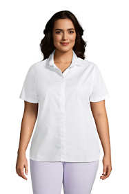 Women's Plus Size Short Sleeve No Iron Shirt