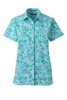 Women's Print Supima Non-iron Short Sleeve Shirt