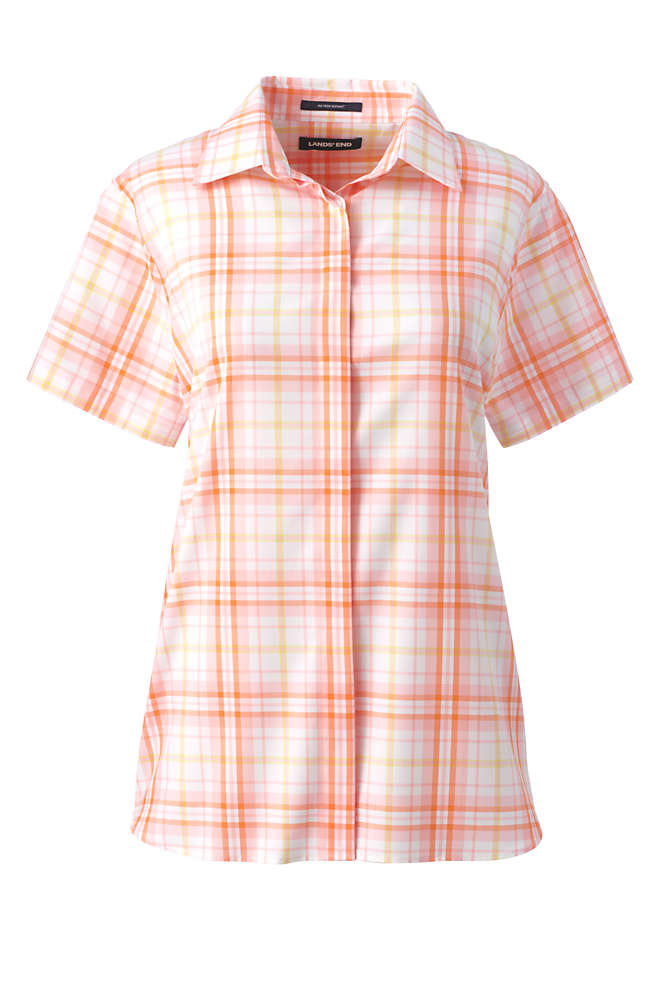 Women's Petite No Iron Supima Cotton Short Sleeve Shirt, Front