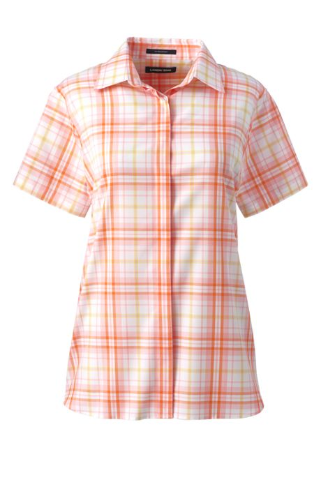 Women's Tall No Iron Supima Cotton Short Sleeve Shirt