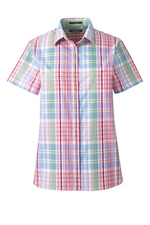 Women's Regular Print Supima Cotton Non-iron Short Sleeve Camp Shirt