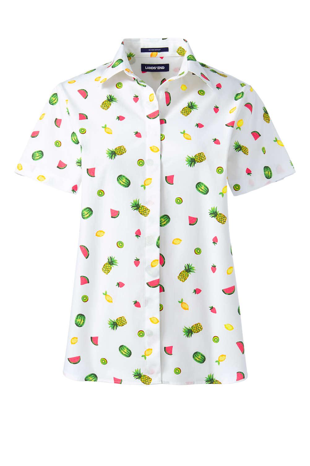 244398d3 Lands End Womens Short Sleeve Shirts - DREAMWORKS