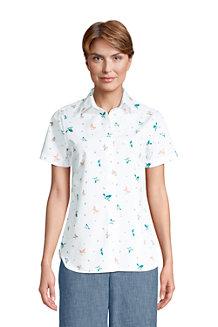 Women's Print Supima Non-iron Short Sleeve Shirt