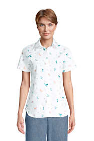 Women's Petite No Iron Supima Cotton Short Sleeve Shirt
