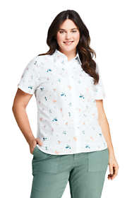 Women's Plus Size No Iron Supima Cotton Short Sleeve Shirt