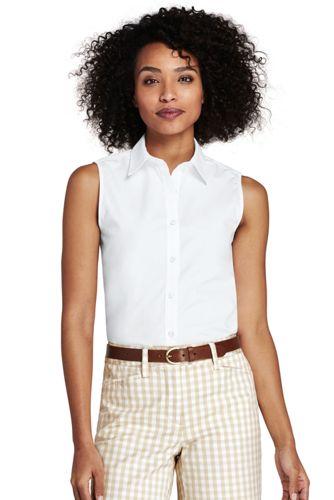 La Chemise Facile d'Entretien Sans Manches, Femme Stature Standard
