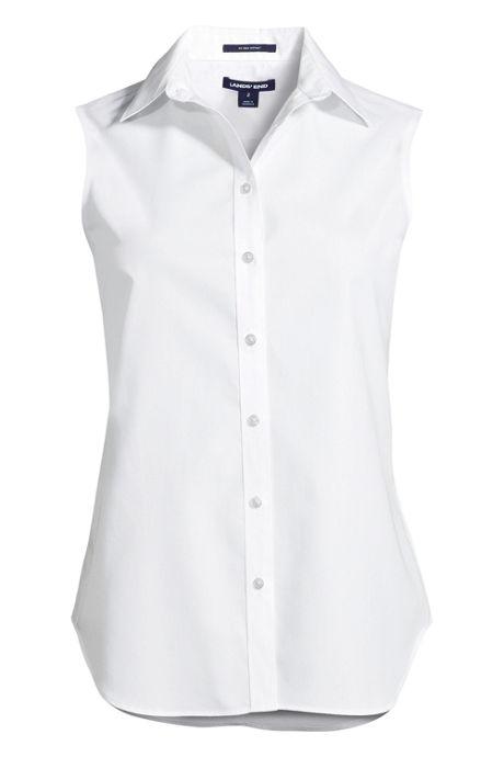 Women's Plus Size Sleeveless No Iron Shirt