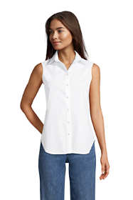 Women's Tall Sleeveless No Iron Shirt