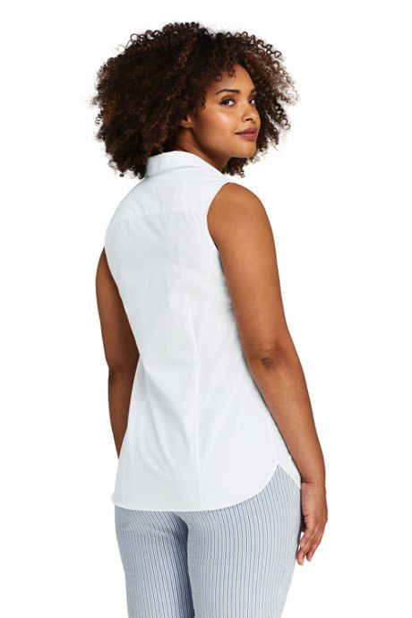 Women's Plus Size Sleeveless No Iron Shirt