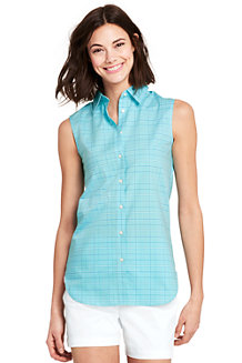 Women's Supima Non-Iron Sleeveless Shirt