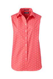 Women's Tall No Iron Supima Cotton Sleeveless Shirt