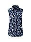 La Chemise Facile d'Entretien Sans Manches à Motifs, Femme Stature Standard