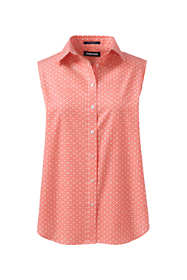 Women's No Iron Supima Cotton Sleeveless Shirt