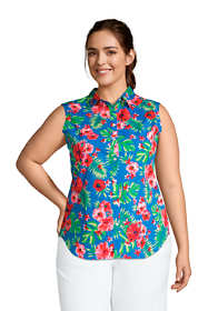 Women's Plus Size No Iron Supima Cotton Sleeveless Shirt
