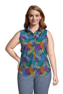 Women's Supima Non-Iron Sleeveless Shirt
