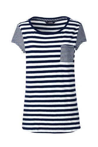 7e1f4c98dc72 Women s Slub Jersey Stripe Pocket T-shirt